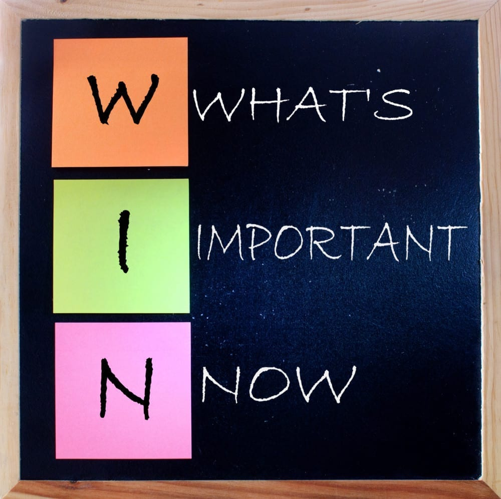 Win concept: What's Important Now, ADHD Coaching