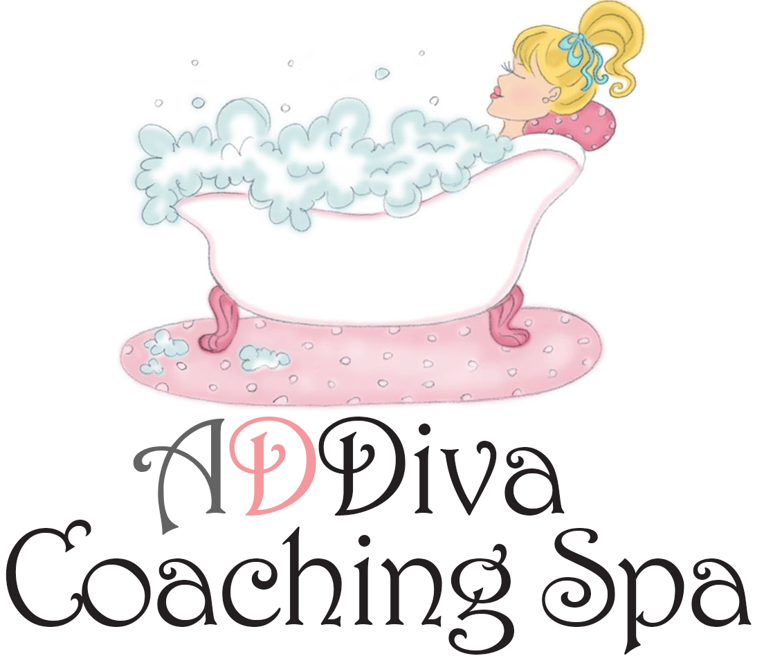 ADDiva coaching spa logo 2017: Coaching for ADHD Women